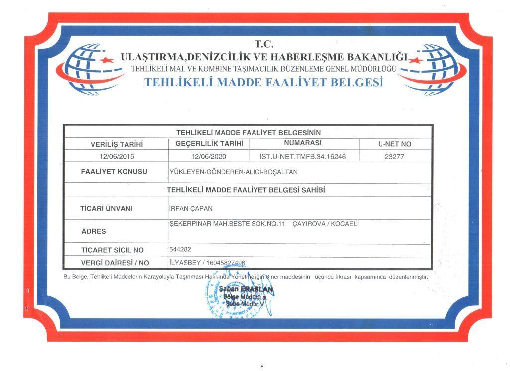 RFAN-ÇAPAN-ATIK-TAŞIMAFALİYET-BELGESİ-e1480770062120-1024x745